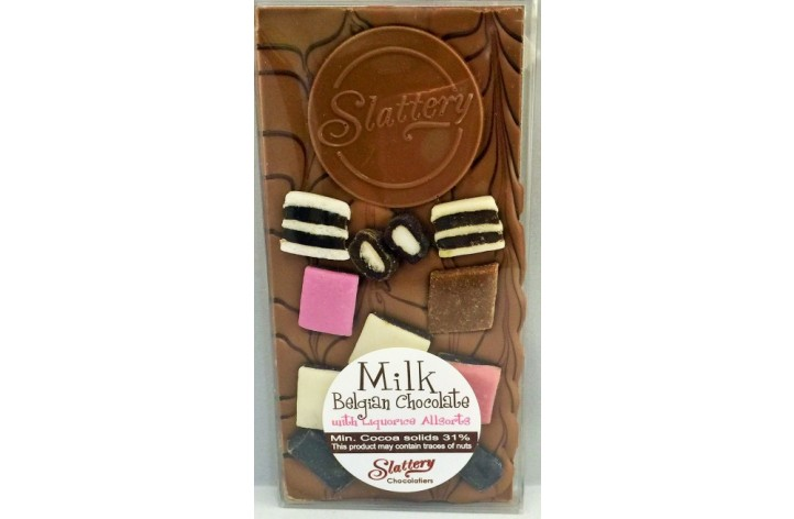 Small Milk Chocolate Bar with Liquorice Allsorts