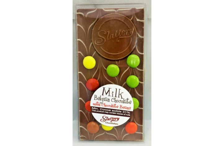 Small Milk Chocolate Bar with Chocolate Beans