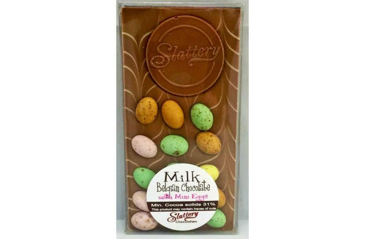 Small Milk Chocolate Bar with Chocolate Eggs