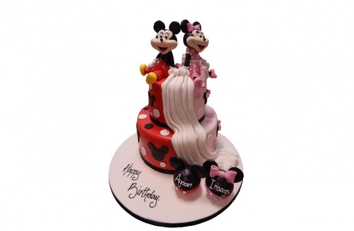 Minnie & Mickey Tiered Cake