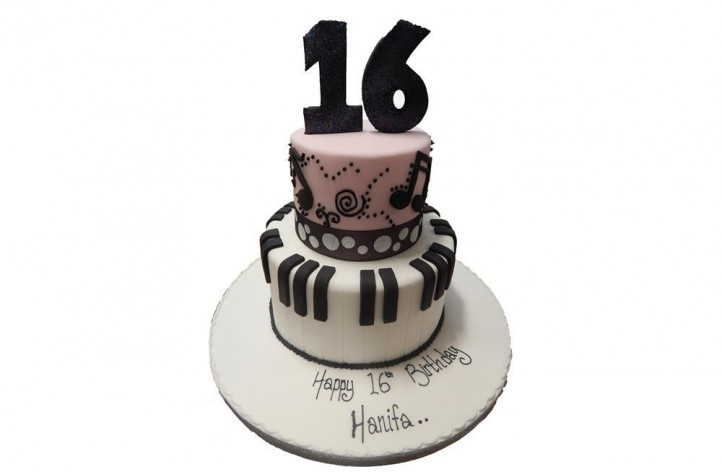 Music and Number Tiered Cake