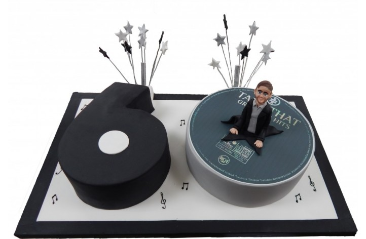 Number CD Cake with Figure