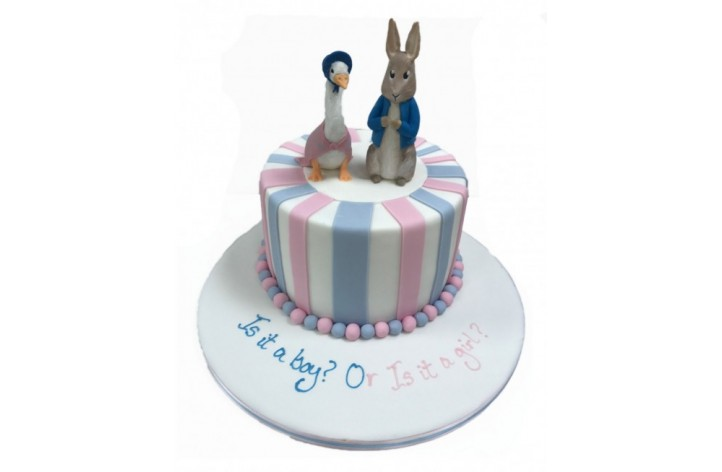 Peter Rabbit & Jemima Puddle-Duck Stripes Cake