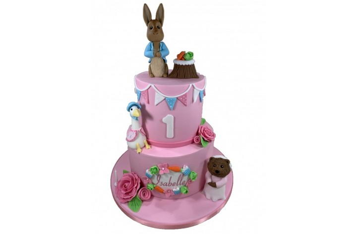 Peter Rabbit Bunting Cake