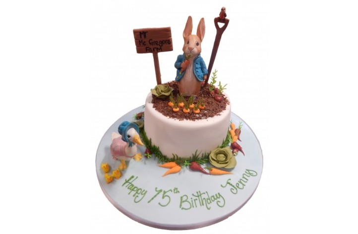 Peter Rabbit Cake With Flowers