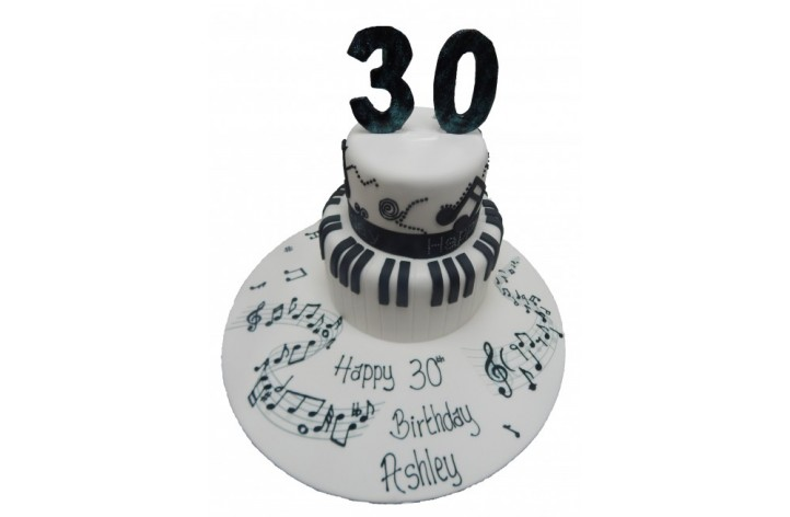 Piano Tiered Cake with Number