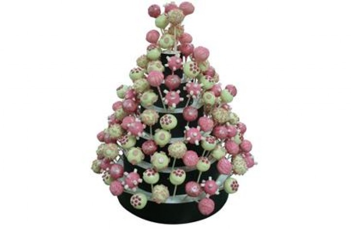Pink & Cream Cake Pop Tower