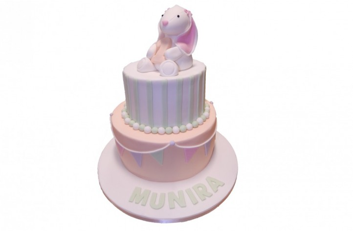Rabbit & Bunting Tiered Cake