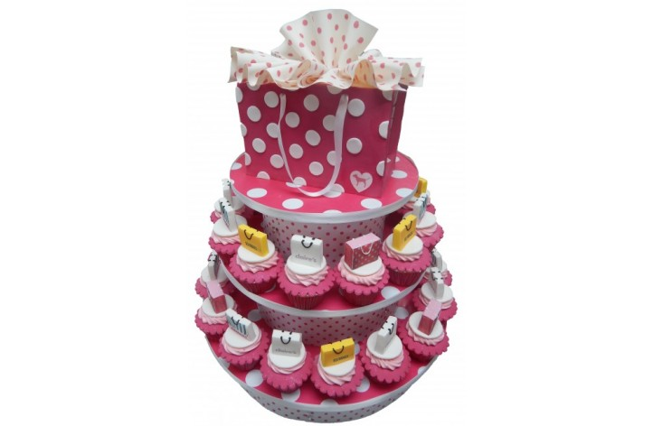 Shopping Bag & Cupcakes