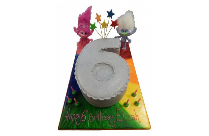 Single Figure Trolls Cake