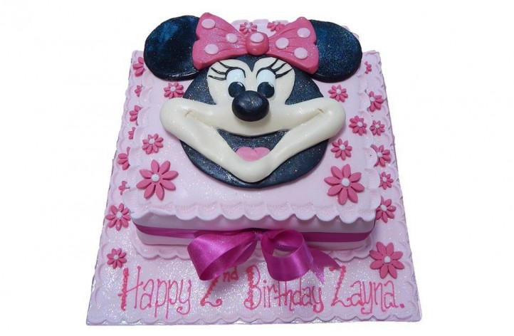 Sugar Minnie Mouse Face Cake