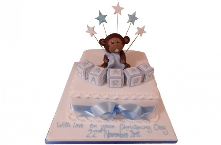 Sugar Monkey Christening Cake