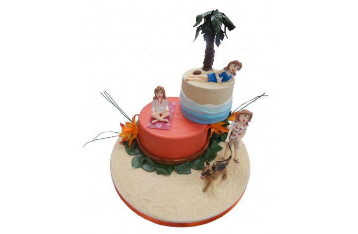 Tiered Cake with Interest & Human Figures