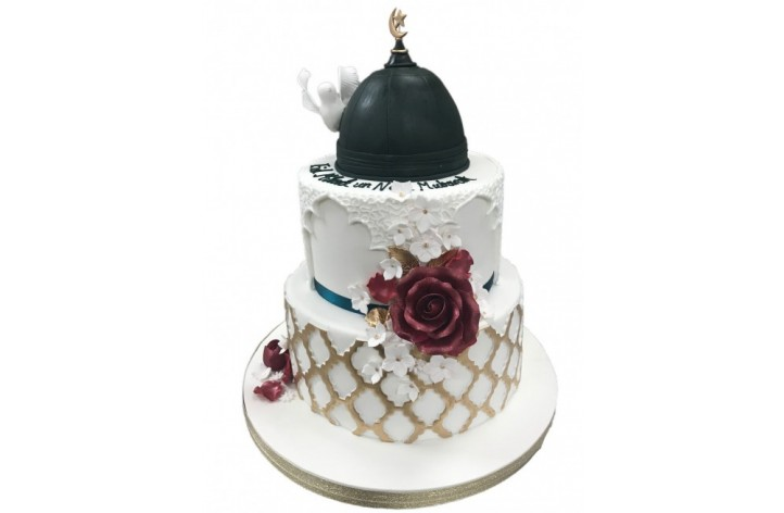 Tiered Floral Eid Cake