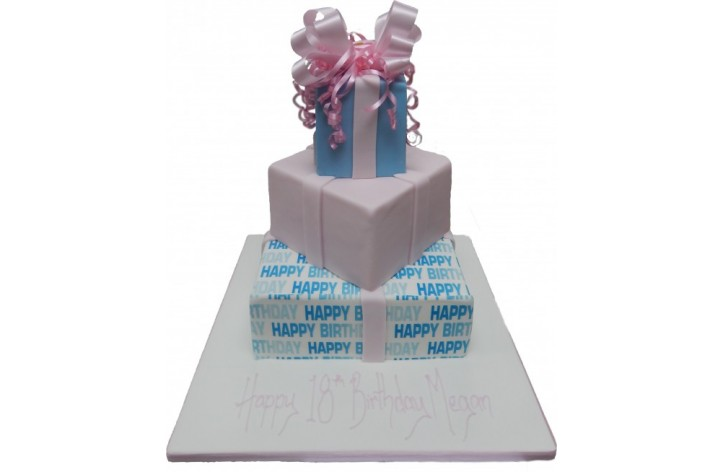 Tiered Present Cake