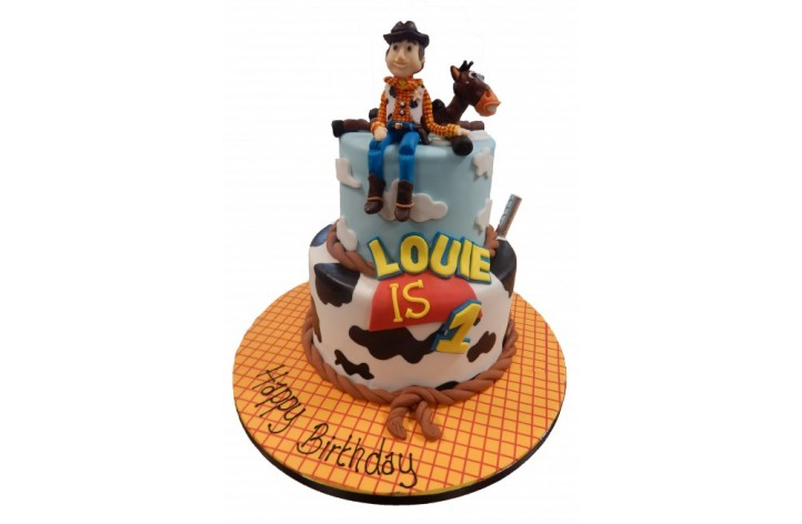 Tiered Toy Story Cake - Woody & Bullseye