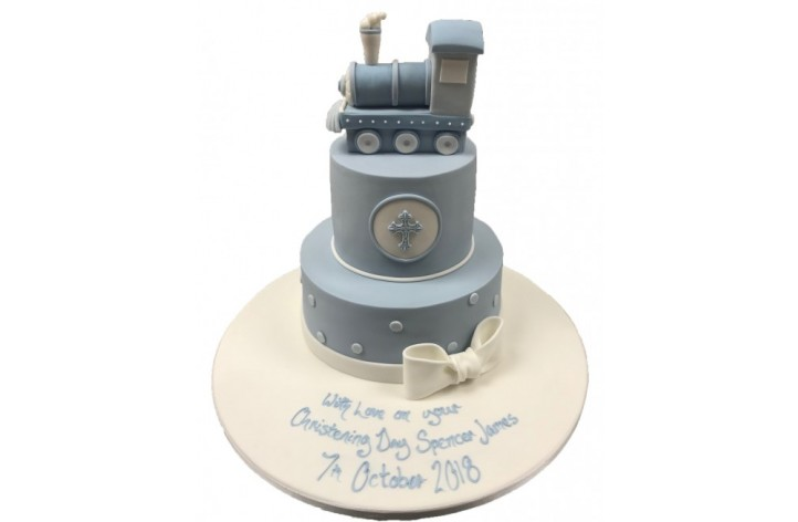 Tiered Train Christening Cake