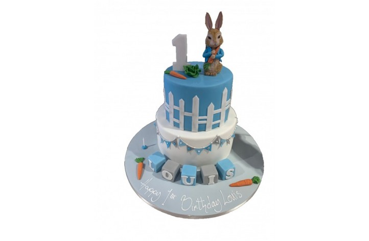 Tiered Peter Rabbit with Bunting