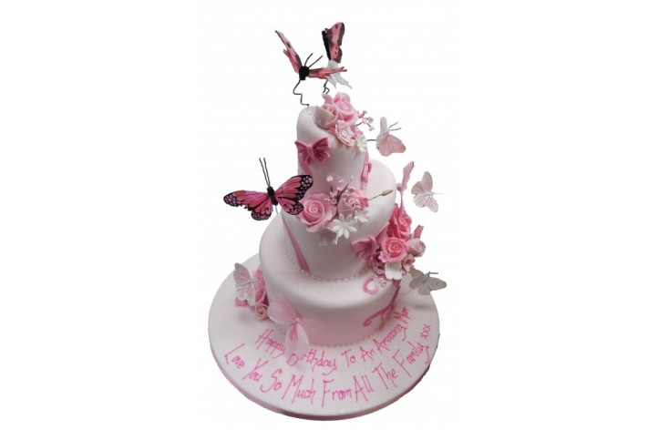 Topsy Turvy with Butterflies & Flowers