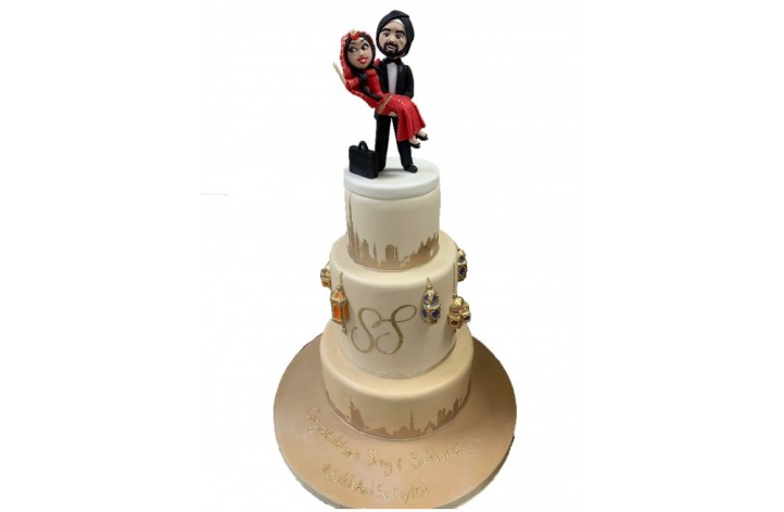 Triple Tier Cake with Figures