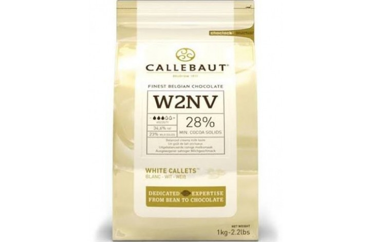 Barry Callebaut (W2) White Chocolate Callets 1kg