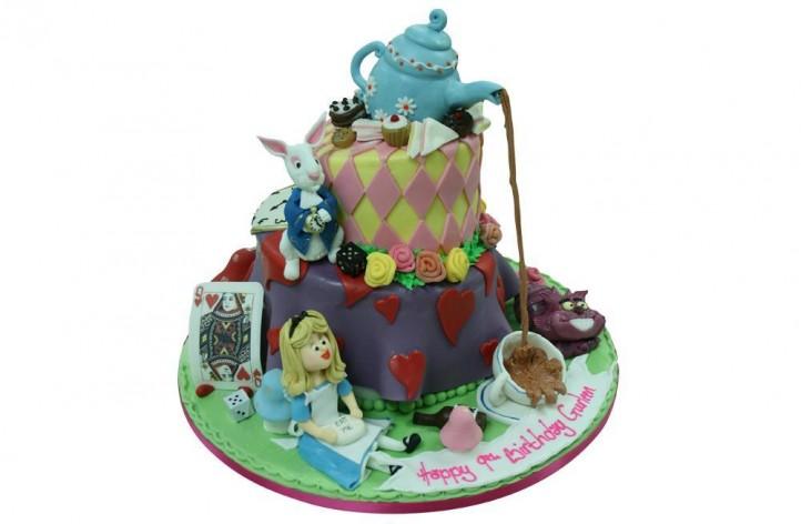 Alice in Wonderland Tiered