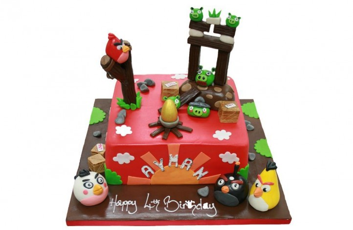 Angry Birds Game Cake