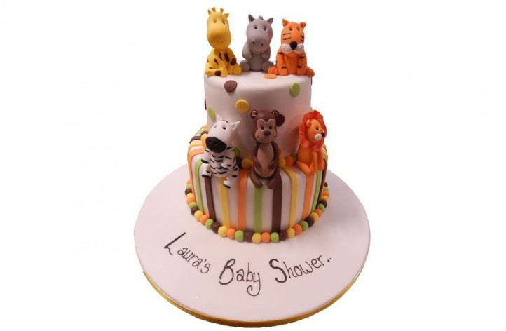 Animal Baby Shower Cake