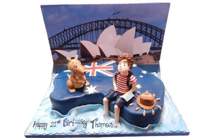 Australia with Figure & Backdrop