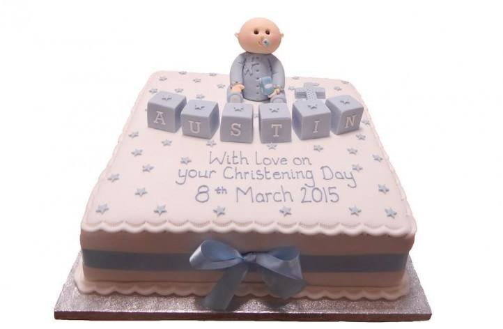 Baby and Blocks Cake