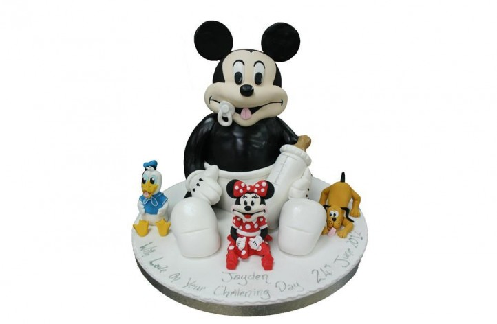 Baby Mickey with Figures