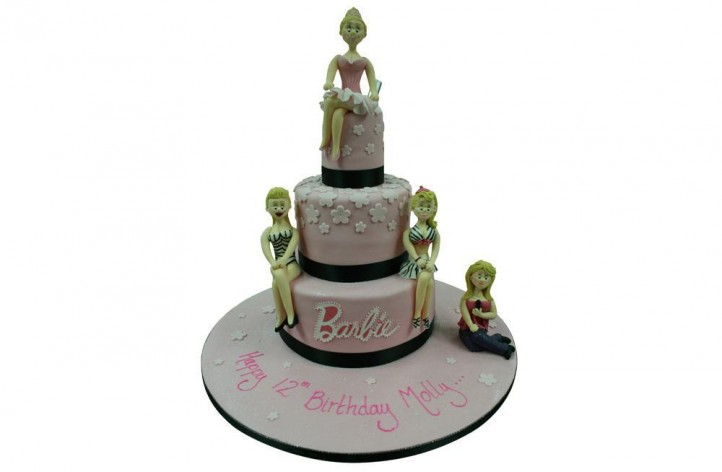 Barbie 3-Tier inc. 4 figures