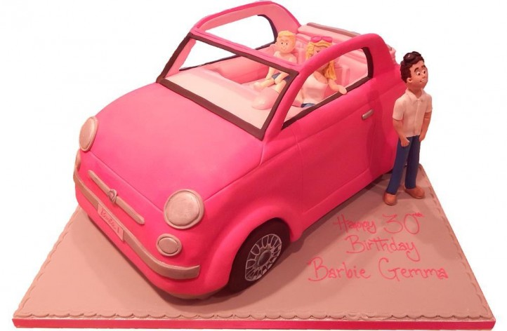 Barbie Fiat 500 Car with Figures