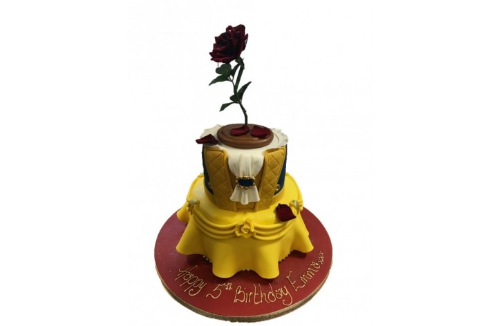 Beauty & The Beast Tiered Cake