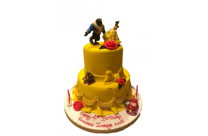 Beauty & The Beast Tiered Cakes (Own Figures)