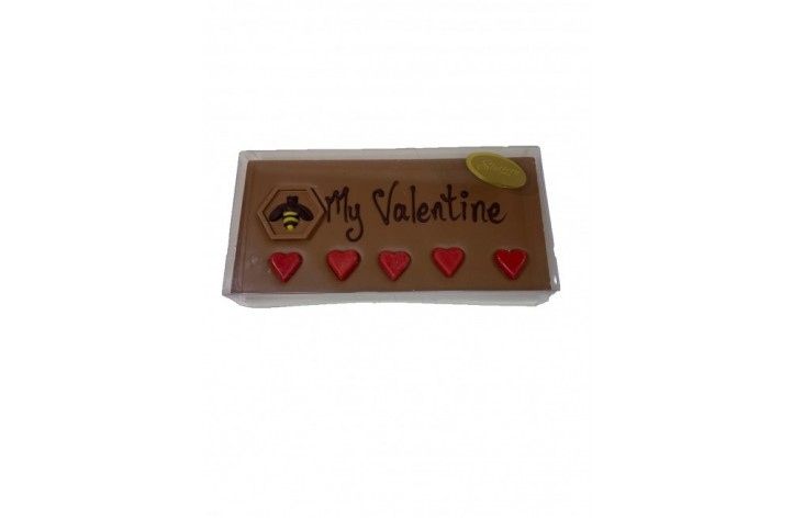 Bee My Valentine Chocolate Bar