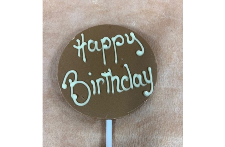 ADD ON ITEM - Small Happy Birthday Chocolate Lolly