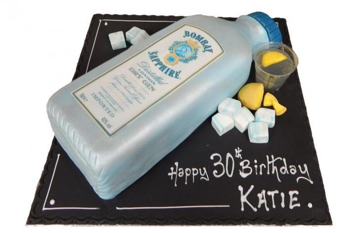 Bombay Sapphire Gin Cake