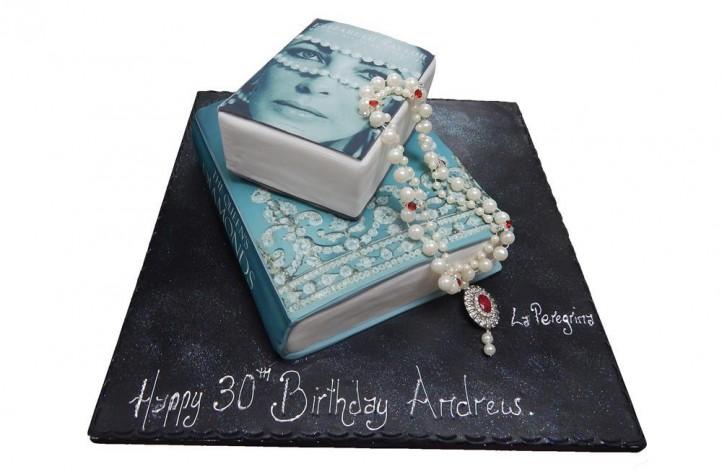 Books & Necklace Cake