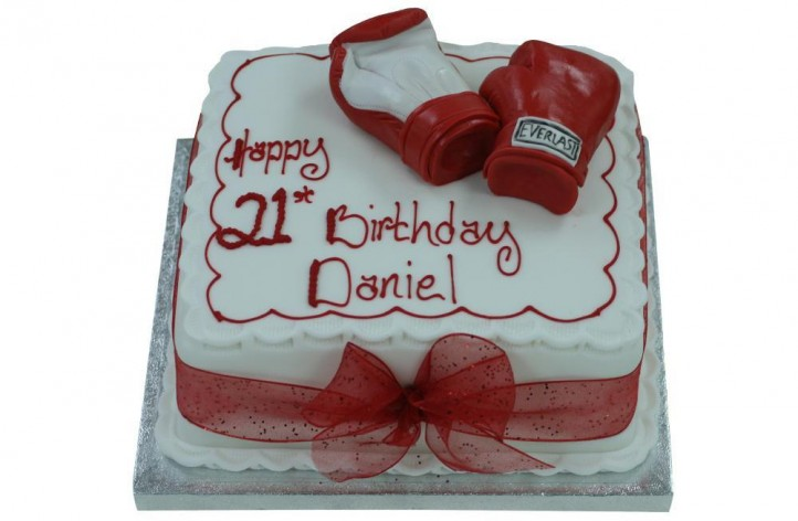 Boxing Gloves on Cake