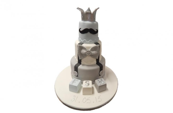 Boys Braces Christening Cake