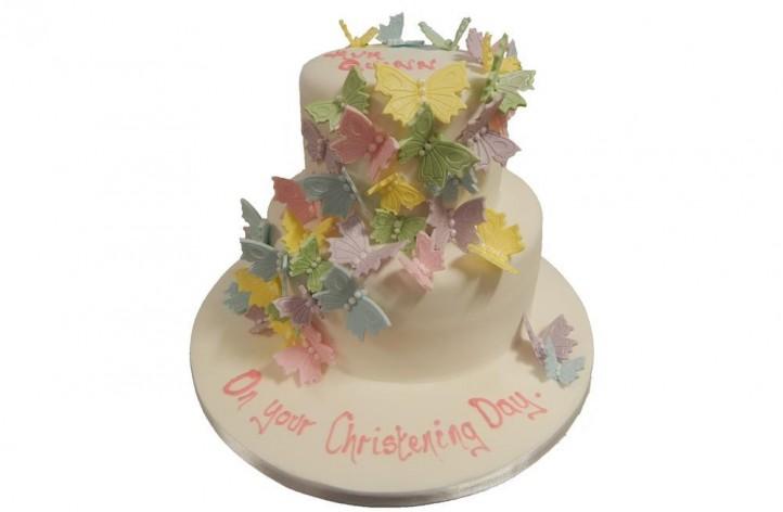 Butterflies Tiered Cake