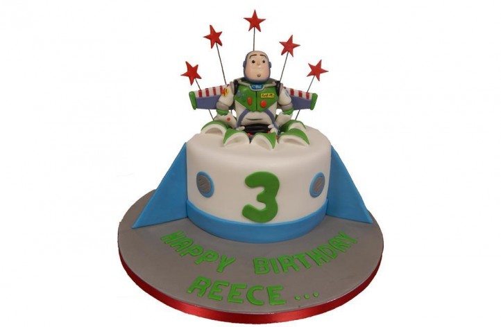 Buzz Lightyear Sugar Figure Cake