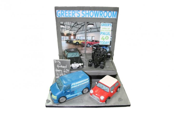 Car Showroom Cake