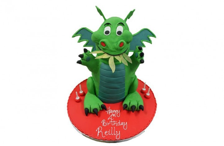 Cartoon Dragon Cake