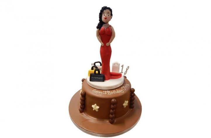 Chocolate Cake with Sugar Figure