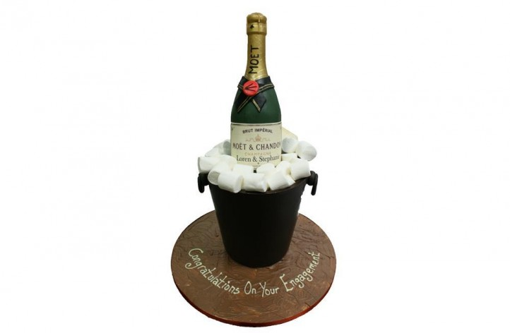 Chocolate Champagne Bucket & Bottle