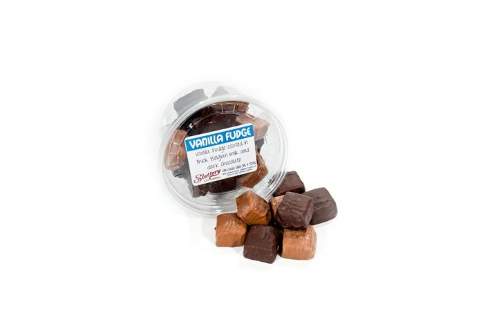 Chocolate covered Vanilla Fudge