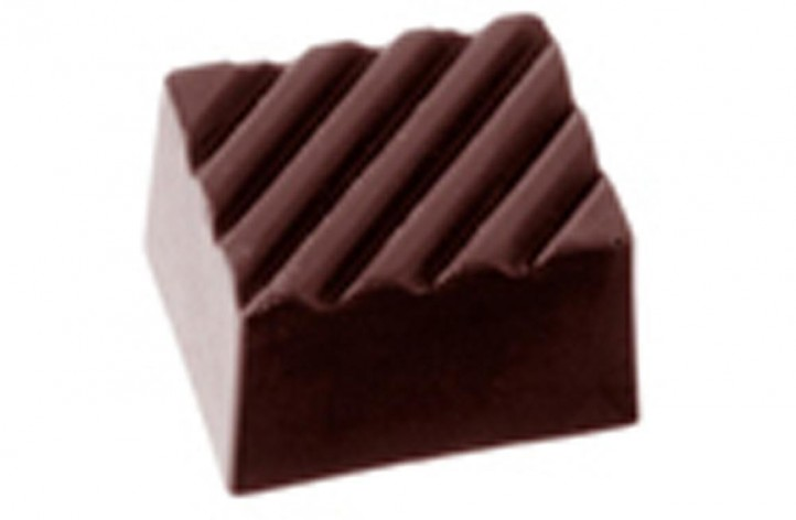 Chocolate Rectangle with line detail on top Hard Plastic Mould