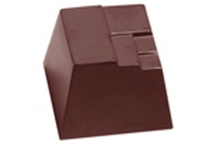Chocolate Square With Step Detail Hard Plastic Mould